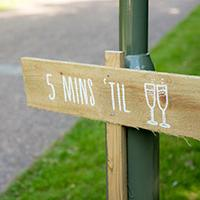 Homemade sign from wedding at home