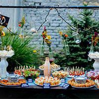 Wedding food table