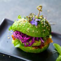 Vegan wedding – a green burger