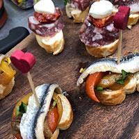 Pintxo food for wedding