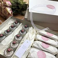 A box of wedding favours from Pretty Little Treats