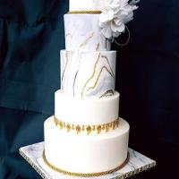 White gold wedding cake from The Cake Temple