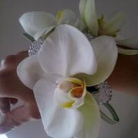 Wrist Corsage from Flowers by the Honeybees creative modern florist in Lancashire