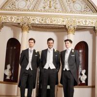 Slate Tailcoat Group, Groom's suit should complement the colour scheme