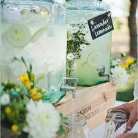 Wedding Drinks Station Server your summer wedding drinks in style