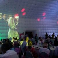 Trillion Events Projector outdoor wedding events, inflatable structure