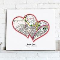 Personalised Love Hearts Map from Love Maps On