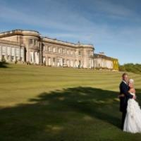 Bridal couple at Wynyard Hall Hotel and Spa, Tees Valley