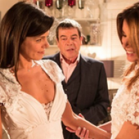 Maria Morris Couture Gowns Star In Coronation Street