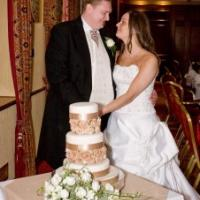 Carlton Park Hotel in Rotherham shoots Cupid's arrow, Mark and Jessica Gaze cutting their wedding cake