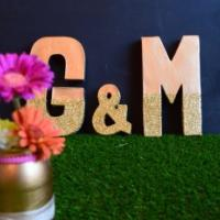 Metallic Glitter 3D letters for your wedding