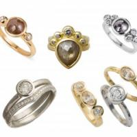 Alexis Dove's unusual and alternative engagement rings