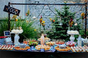 Wedding food trends 2018