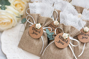 A welcome bag for guests