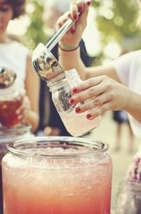 wedding drinks punch bowl