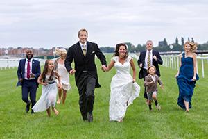 Weddings worthy of a photo finishat racecourse