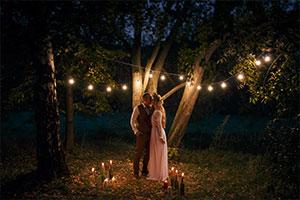 Couple on the wedding night