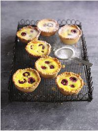 Raspberry Portuguese tarts
