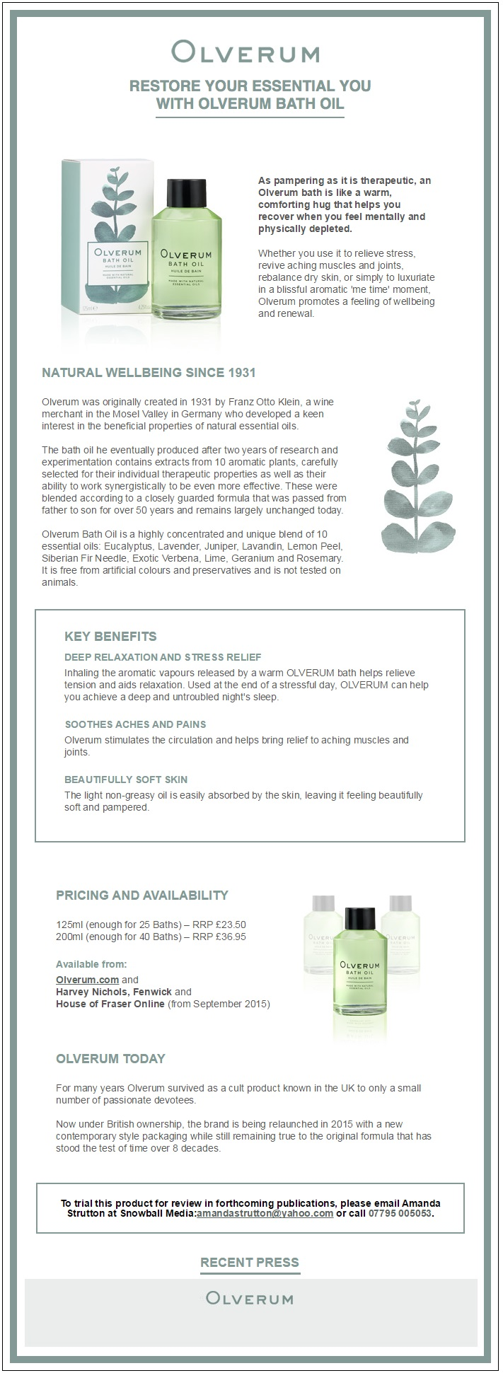 Olverum Infographic
