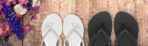 Bride-and-groom-flip-flops