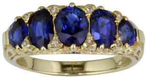 London-Victorian-Co-Sapphire-5-Stone-Antique-Style-Ring,-£4,200,-www.london-victorian-ring