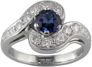 London-Victorian-Ring-Company-Art-Deco-Sapphire-Diamond-Cocktail-Ring,-£2,350-www.london-victorian-ring