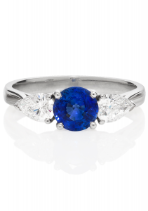 London-Victorian-co-Sapphire-and-Pear-Shape-Diamonds-3-Stone-Ring,-£1,775,-www.london-victorian-ring