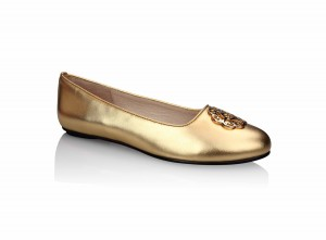 Yas Ballerina gold wedding shoe